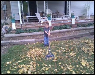 11-6-2010 raking leaves