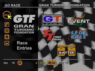 GT1 Race Menu