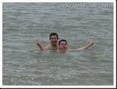 Swiming at Pantai Kerachut