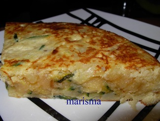tortilla de calabacin,racion