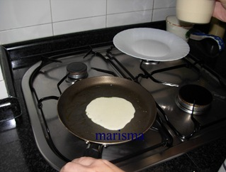crepes, masa a la sarten