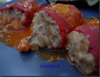 piquillos rellenos de carne,racion