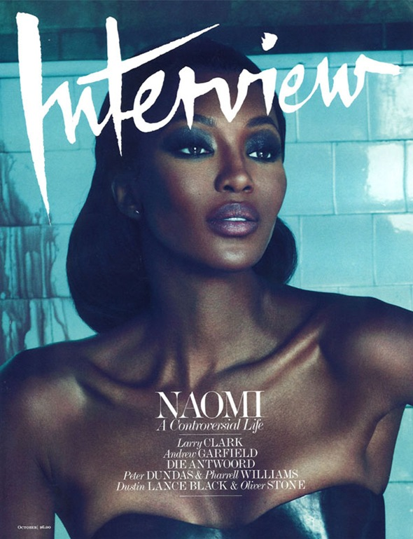 naomicover emInterviewem October 2010 Cover  Naomi Campbell by Mert & Marcus