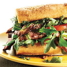 Steak Sandwiches with Fresh Herb Topping