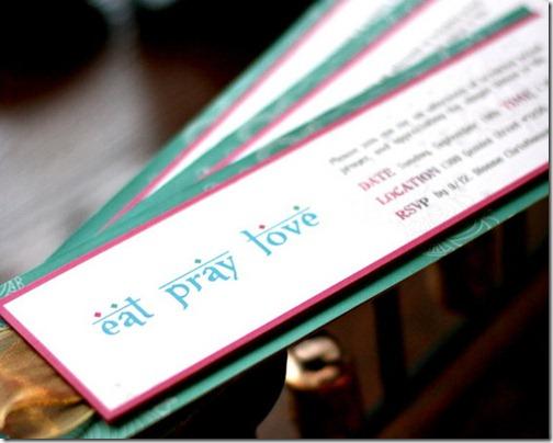Eat Pray Love Bridal Shower Theme