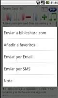 Screenshot of Holy Bible Reina Valera