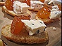Stilton & Candied Kumquat Canapes