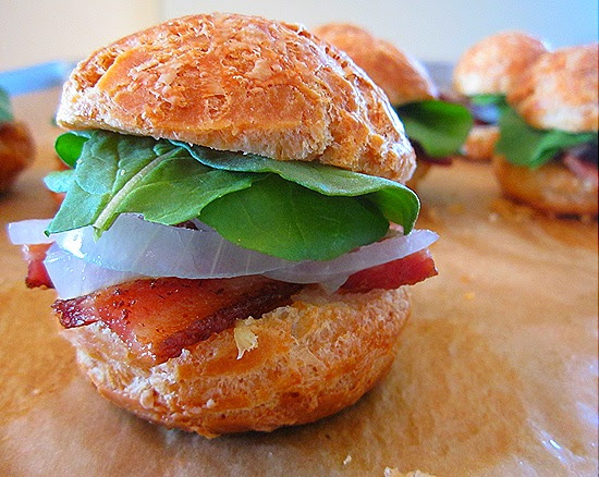 Scrumptious Company: Mini Gougere Sandwiches with Bacon ...
