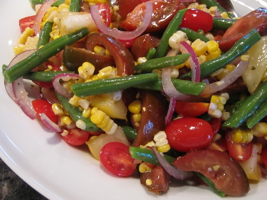 Tomato-Green Bean-Corn Salad