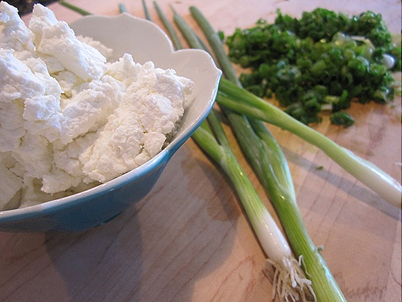 Goat Cheese & Green Onions