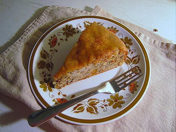 Glazed Pear & Walnut Cake