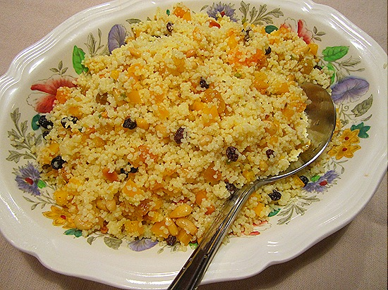 Couscous with Toasted Pinenuts & Dried Fruits