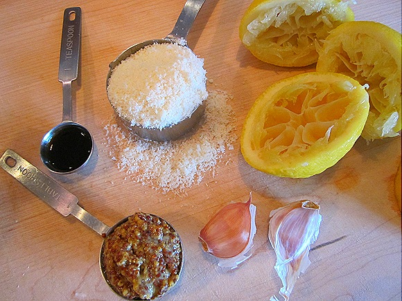 Some Parmesan Vinaigrette Ingredients