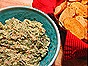 Garlicky White Bean Dip with Mustard Greens & Bacon