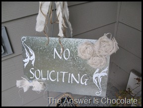 No Soliciting Closeup