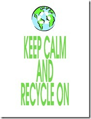 Keep Calm Recycle White
