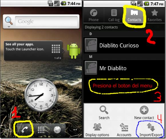 Diablito curioso-Android en Espanol