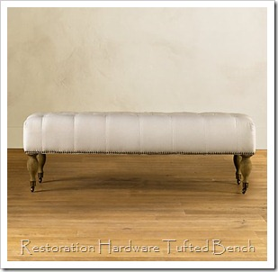 RH tufted bench