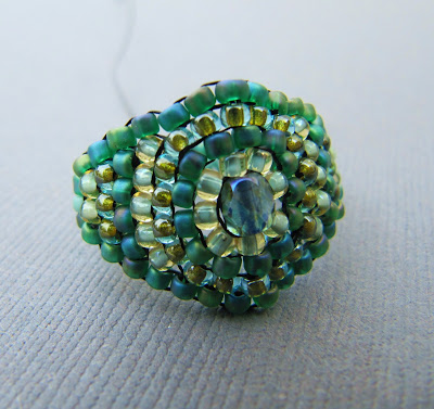 Aqua Bling Tidepool Ring by La Bella Joya