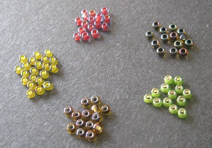 Assorted Tinted Color Lined 11/o Seed Beads