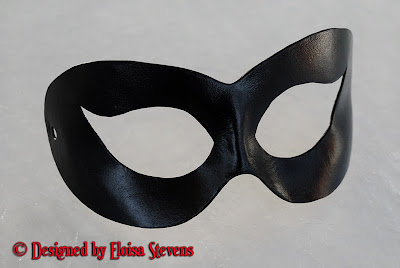 Handmade Leather Harley Quinn or Catwoman Mask by Nokturnel Eclipse