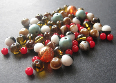Assorted Czech Glass Druk Beads