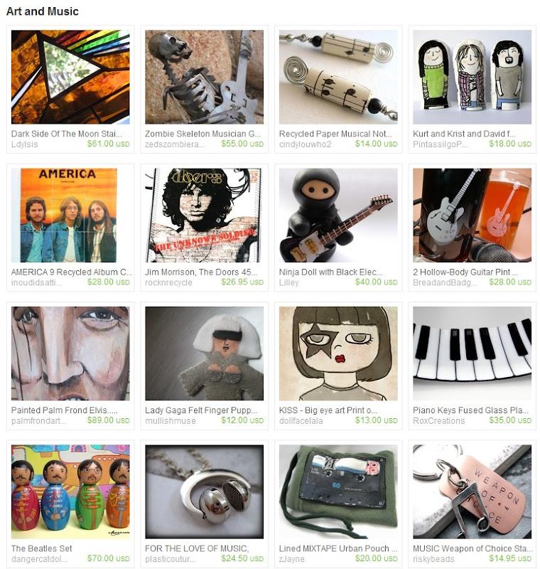 Art and Music Etsy Treasury