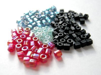 Assorted Hex-Cut Seed Beads
