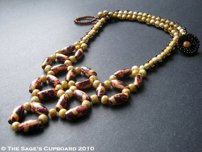 Wood Wedge Bib Necklace by The Sage's Cupboard