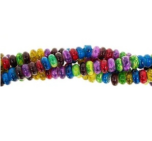 Fruit Colors Glass Rondelle Bead Strand from AuntiesBeads.com