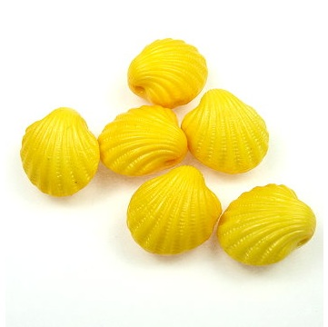 Lucite Scallop Shell Beads from BeadinPath.com