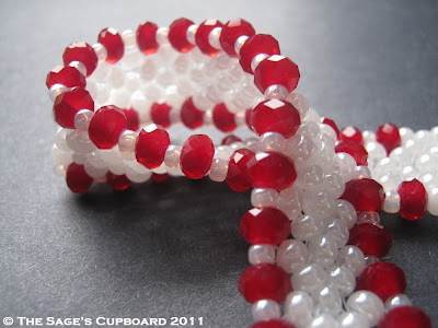 Valentine Bracelet with Red Velvet Crystals