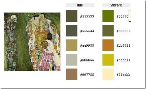 color palette121111