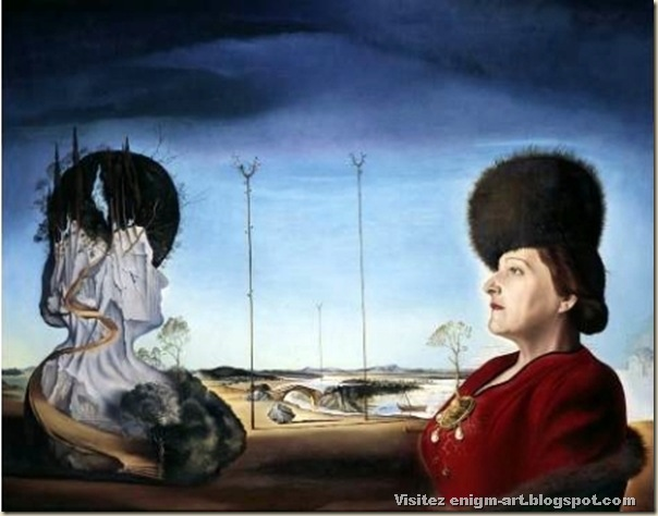 Salvador Dali, portrait d'Isabel styler-Tas, 1945, national galerie, Berlin