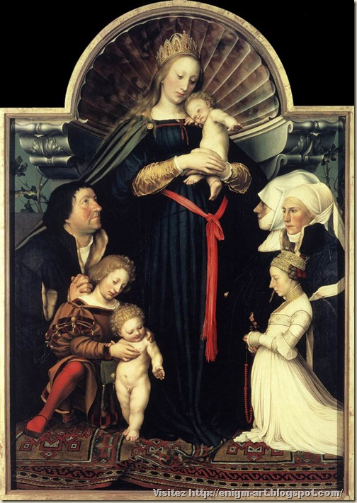 Holbein le jeune, La Madone du Bourgmestre Meyer, 1525 et 1528