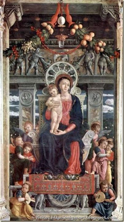 Andrea Mantegna, Madonna san zeno,  1457-60