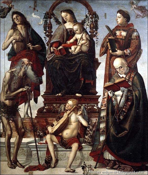 Luca Signorelli, Madonne avec enfant et saints, 1484, Italie