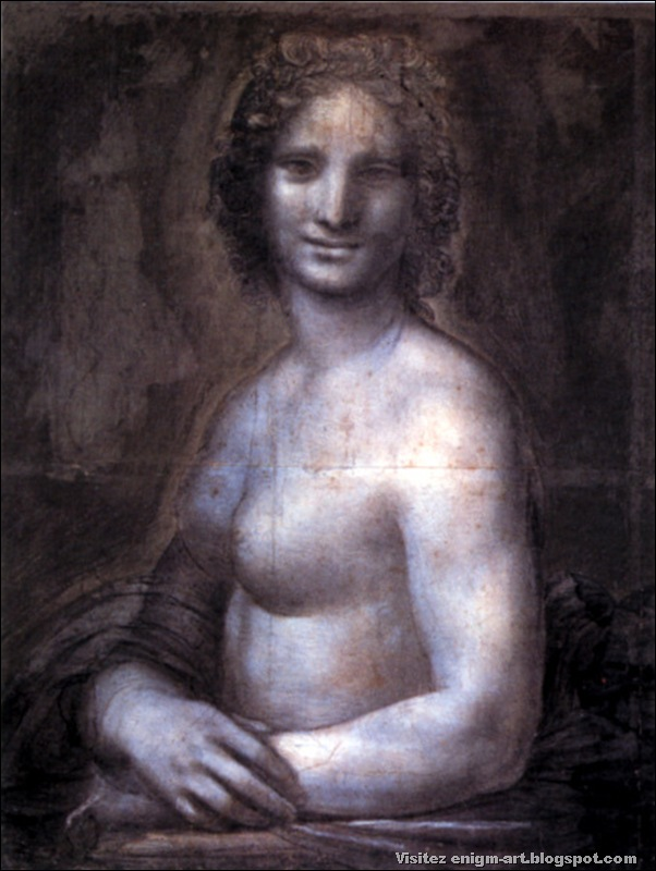 Copie de Leonard, Joconde nue, 1515-1518, Chantilly musée Condé.