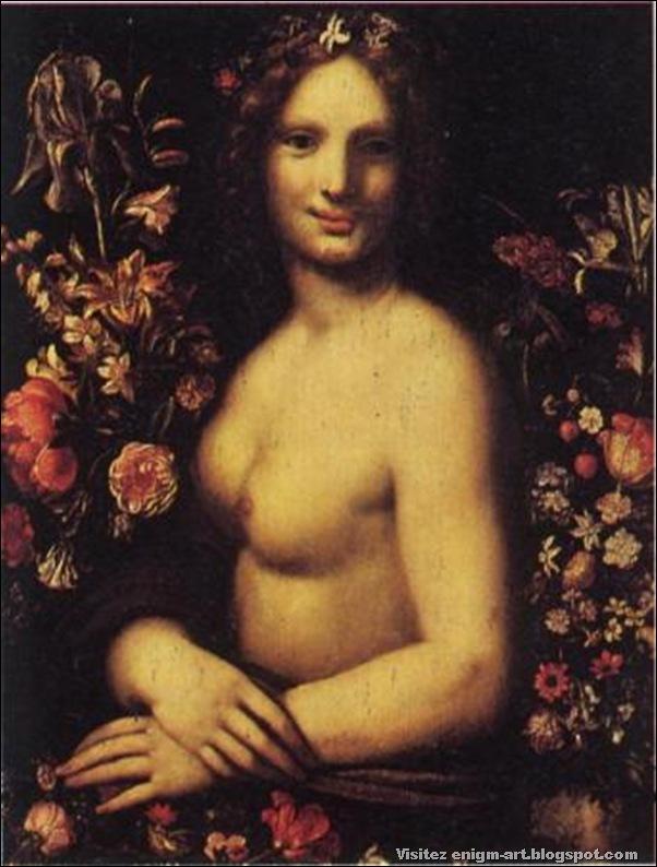 Flore ou la Joconde nue peinture anonyme du XVII siècle