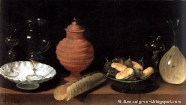 Juan Van der Hamen Y Leon, Nature morte avec verres, céramique et biscuits, 1622