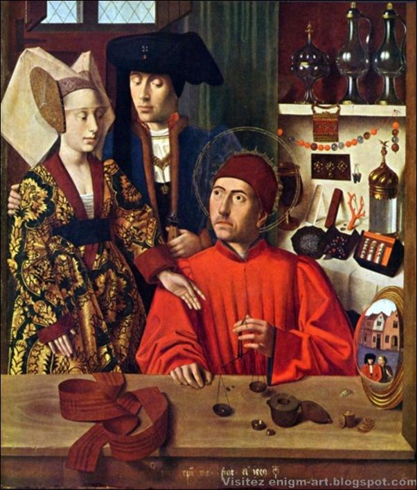 Petrus Christus, Saint Éloi et les fiancés, 1449