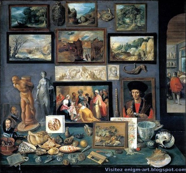 Frans Francken le Jeune, Cabinet d'un collectionneur, 1636