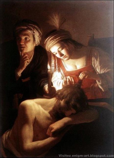 Gerrit Van Honthorst, Samson et Dalila, 1615