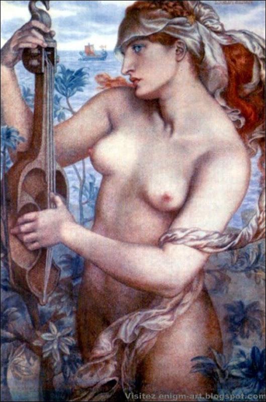 Dante Gabriel Rossetti, La sirène, 1873