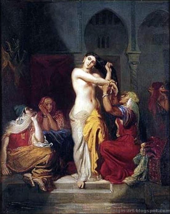 Théodore Chassériau, Femme sortant du bain dans le Serail,1849