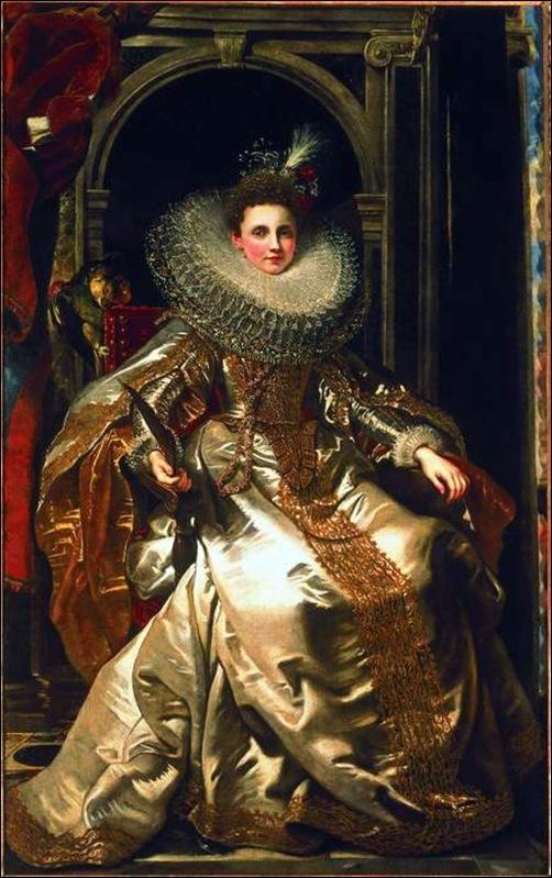 Peter Paul Rubens, La Marquise Maria Serra Pallavicini ou (Caterina Grimaldi), vers 1606