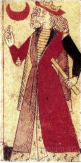 Roi de croissant, Jeu de cartes fabriqué à Lyon, 1490-2