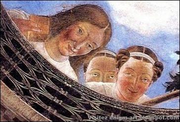 Détail, Andrea Mantegna, Oculus de la chambre des époux, 1465-2 [1600x1200]