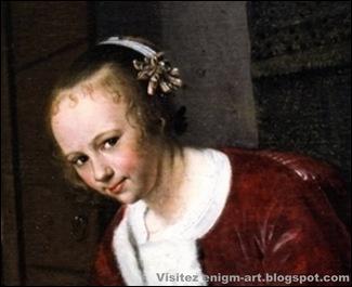Détail,Jan Steen, La mangeuse d'huitres, vers 1658-1661 [1600x1200]