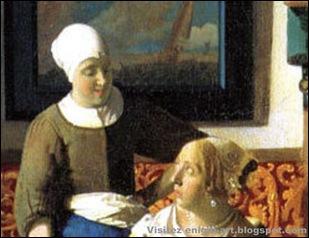 Détail, Vermeer, La lettre d'amour, 1667-1 [1600x1200]